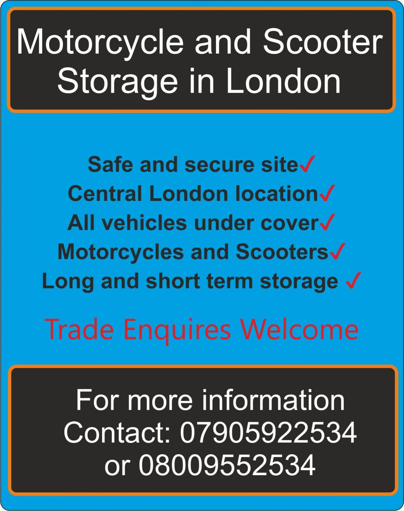 gallery/motorcycle and scooter storage in London